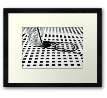 Ice Cube Squared Framed Print