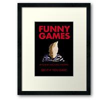 Funny Games Bag Boy Framed Print
