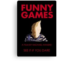 Funny Games Bag Boy Canvas Print