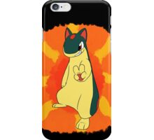 A Quilava's Fiery Victory! iPhone Case/Skin