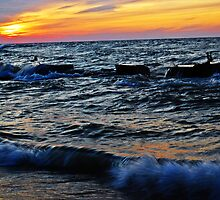 Lake Erie: Sunset on Fire by Rachel Counts
