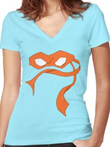 Mikey Mask Women's Fitted V-Neck T-Shirt