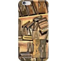 When Printing Was An Art... iPhone Case/Skin
