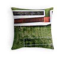 Red Steps by the Court Throw Pillow