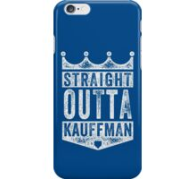 Straight Outta Kauffman (white) iPhone Case/Skin