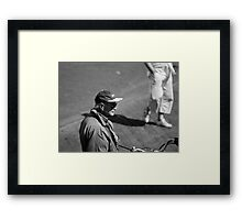 Man With Cap Framed Print