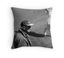 Man With Cap Throw Pillow