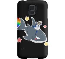 Wadanohara and the Great Blue Sea - Wadanohara and Samekichi riding the Rainbow Samsung Galaxy Case/Skin