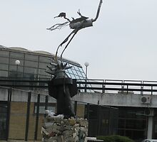 stork monument in the Novi Sad, Serbia by Rada