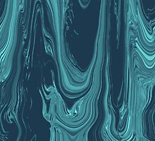 Waves of Blue Abstract Artwork by Adri Turner