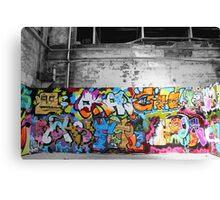 amongst graffiti art Canvas Print