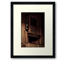 Creepy Hotel Framed Print