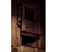 Creepy Hotel Photographic Print