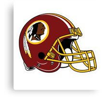 washington redskins helmet logo Canvas Print