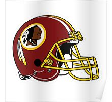 washington redskins helmet logo Poster
