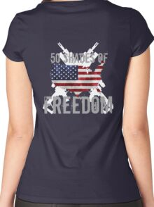 50 Shades of Freedom  Women's Fitted Scoop T-Shirt