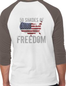 50 Shades of Freedom  Men's Baseball ¾ T-Shirt