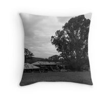 The Old Shearing Shed - II Throw Pillow