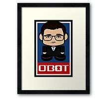 Chris Hayes Politico'bot Toy Robot 2.0 Framed Print