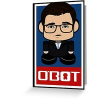 Chris Hayes Politico'bot Toy Robot 2.0 Greeting Card