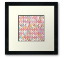 Pale Playful Chevron  Framed Print