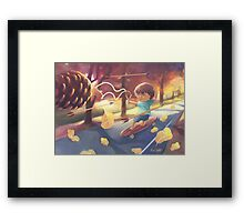 Game Of Pine Cones. Framed Print