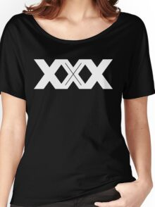 XXX Single Inline [White Ink] Women's Relaxed Fit T-Shirt