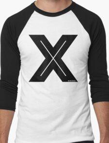 X Inline [Black Ink] Men's Baseball ¾ T-Shirt