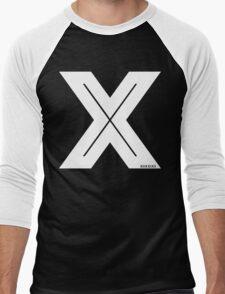 X Inline [White Ink] Men's Baseball ¾ T-Shirt