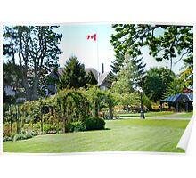 Front Lawn & Garden at B.C.'s Government House Poster