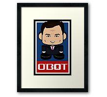 Chris Christie Politico'bot Toy Robot 2.0 Framed Print