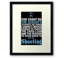 Funny Shooting - Custom Tshirts Framed Print