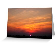 *JULY SUNSET* Greeting Card
