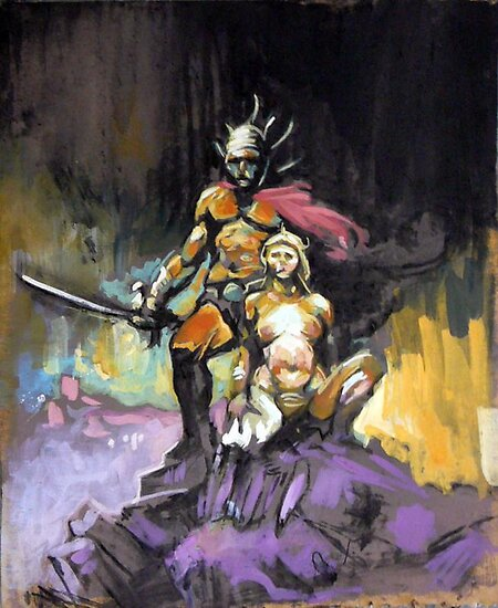 swordman and his concubine by waargh