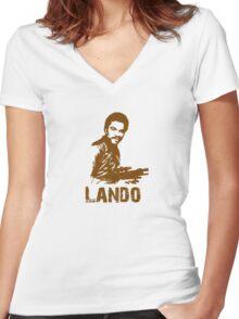 Lando Women's Fitted V-Neck T-Shirt
