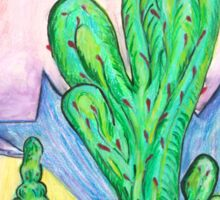 Cacti Under The Desert Sun Sticker