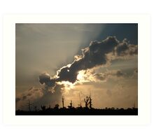 Sunset Over Swamp, May 26, 2009 Art Print