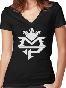 Manny 4 Women's Fitted V-Neck T-Shirt