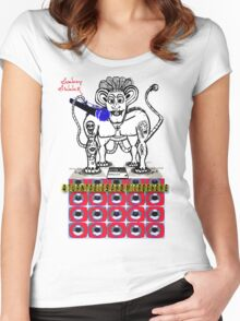 Donkey Dinner 4 Turntables and i Microphone Women's Fitted Scoop T-Shirt