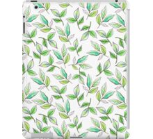 Watercolor branches and leaves green. iPad Case/Skin