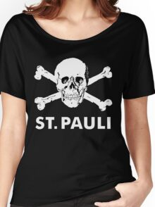 St.Pauli Braun Totenkopf Women's Relaxed Fit T-Shirt