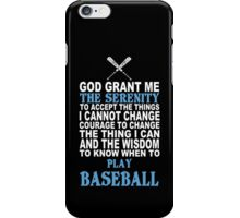 Baseball Funny Tshirt iPhone Case/Skin