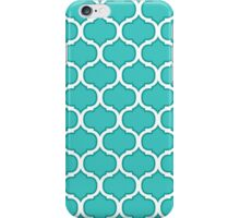 Teal and White Latticework Graphic iPhone Case/Skin