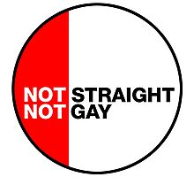 Not Straight, Not Gay Photographic Print