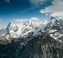 Eiger, Mönch and Jungfrau by peterwey