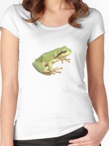 European Tree Frog Isolated Women's Fitted Scoop T-Shirt