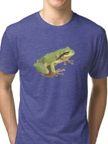 European Tree Frog Isolated Tri-blend T-Shirt