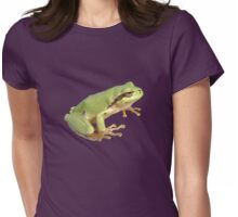 European Tree Frog Isolated Womens Fitted T-Shirt