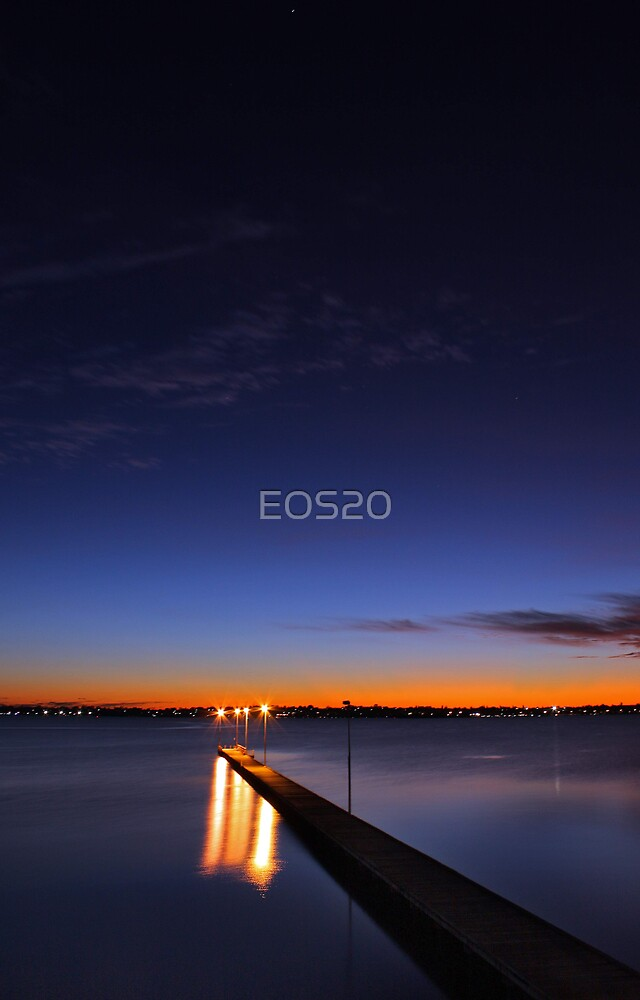 Como Jetty At Dusk  by EOS20