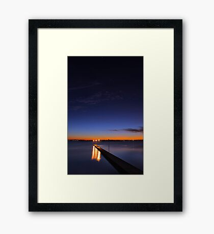 Como Jetty At Dusk  Framed Print